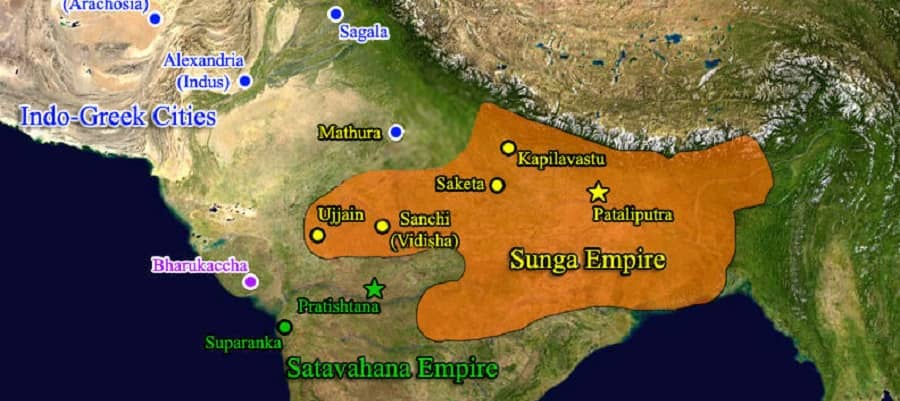 gautamiputra satakarni  satavahana dynasty  sunga dynasty pushyamitra kanva dynasty