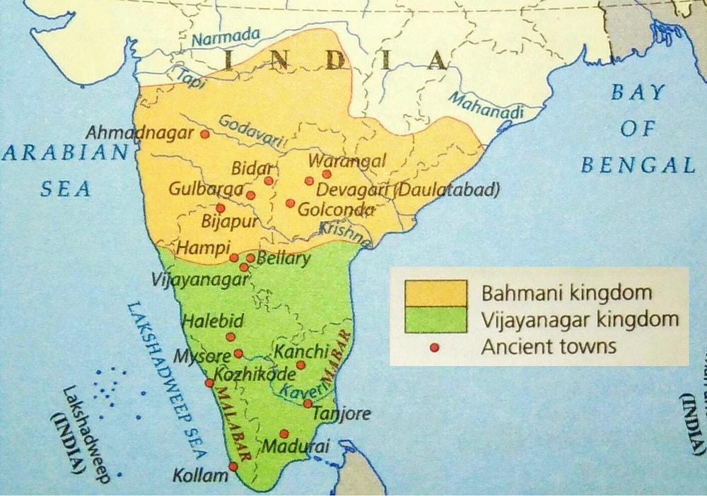 vijayanagar empire krishna deva raya bahmani kingdom