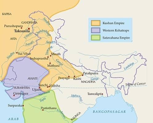 kushan dynasty empire kanishka kujula kadphises vima