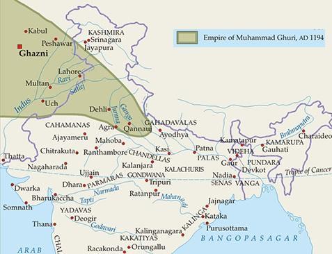 turkish invasions arab invasion in india mahmud of ghazni Muhammad Ghori battle of tarain