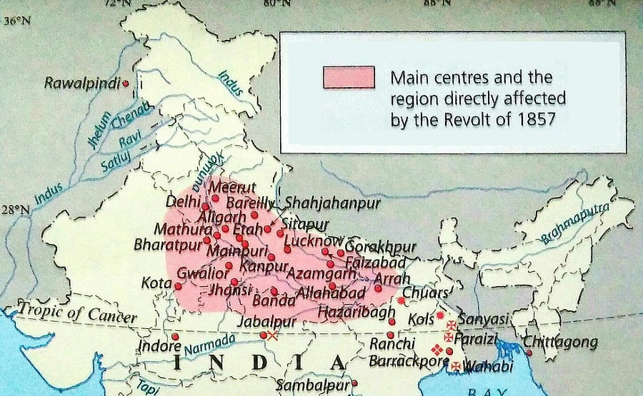 leaders of revolt of 1857 in india