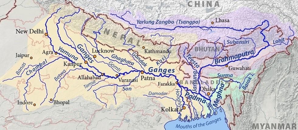 indus river ganga river brahmaputra river Himalayan river