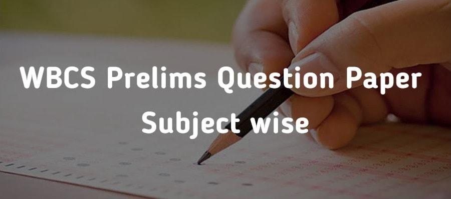 wbcs preliminary question paper wbcs exam